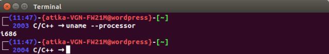 uname_processor